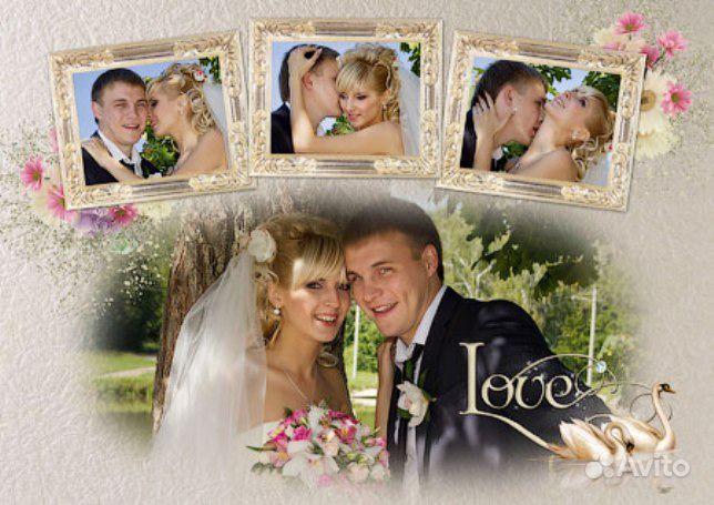 Свадебный коллаж из фотографий