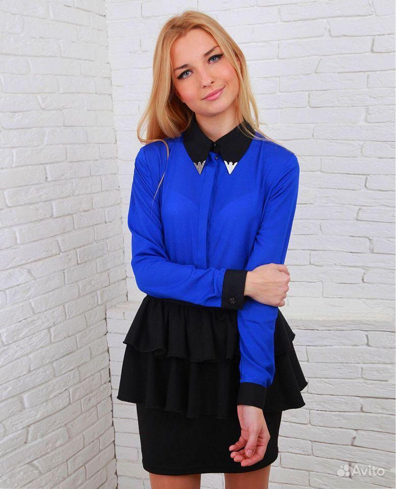 Ярко Синяя Блузка С Доставкой