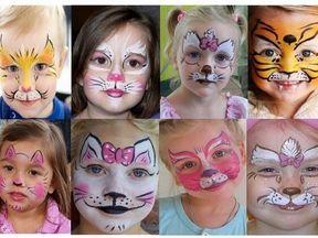 как нарисовать на лице котенка фото
