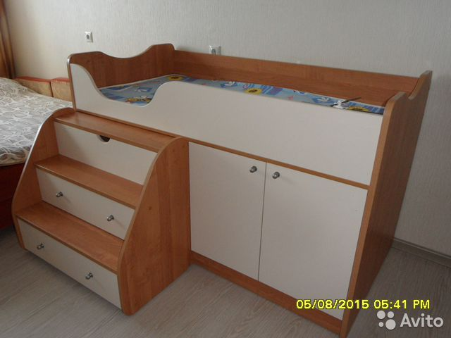 детская кровать приют мини 007 м3: