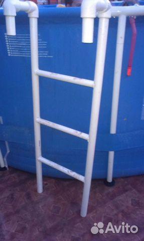Лестница для бассейна из пластиковых труб своими руками 235
