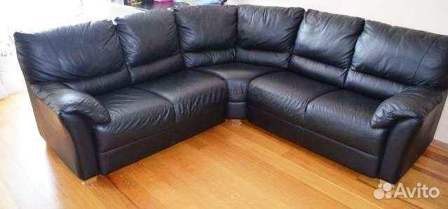 угловой кожаный диван кровать бу из финляндии купить в новгородской