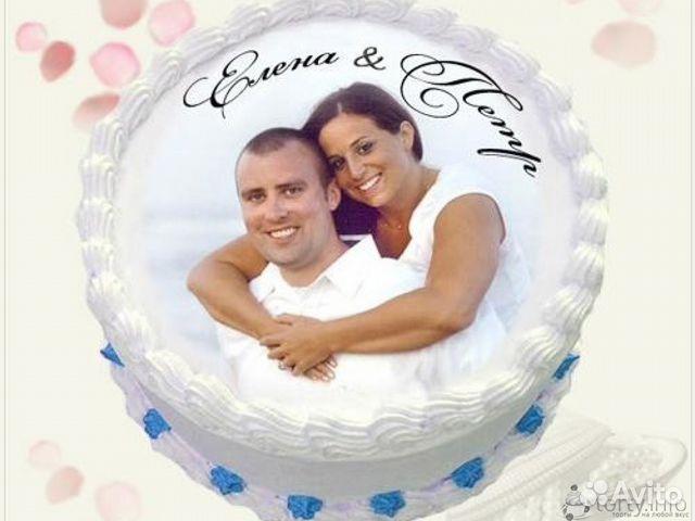 печать фото на торт