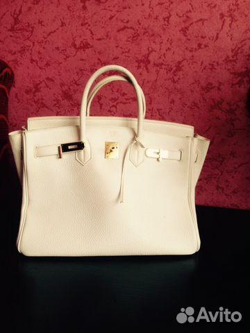 Купить белую сумку hermes
