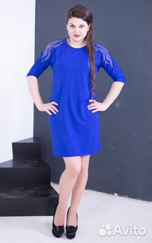 8846a55f0cb Платье со стразами синее. Много вещей