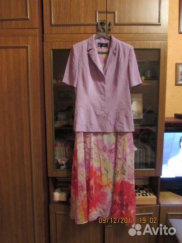 Костюм: платье + жакет 89612531683 купить 2