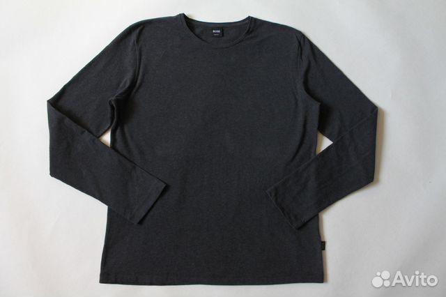 Мужская темно-серая кофта лонгслив Hugo Boss купить в Санкт ... e2d7998c6f63c