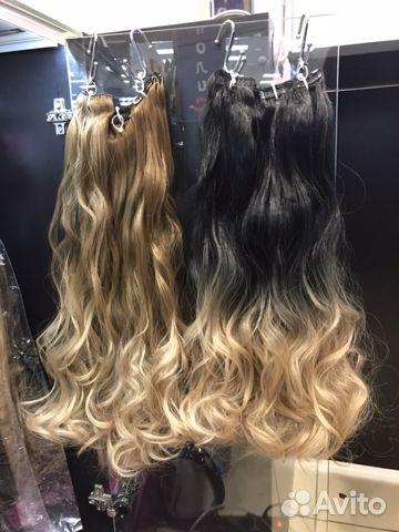 Волосы на заколках купить 2