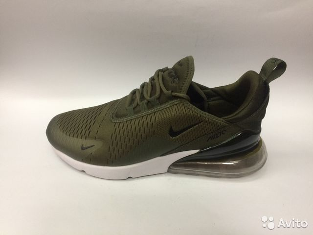 a013da6d Кроссовки Nike Air Max 270 зеленые мужские с белым купить в Москве ...