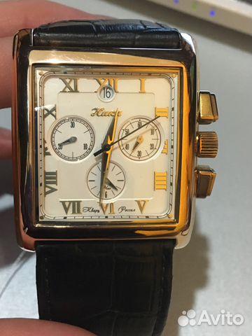 Золотые наручные часы из Швейцарии