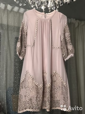 Платье новогоднее шёлк кружево Италия Dg купить в Москве на Avito ... d07a62d327a
