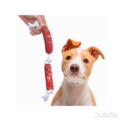 Игрушка для собак Сосиска на веревке
