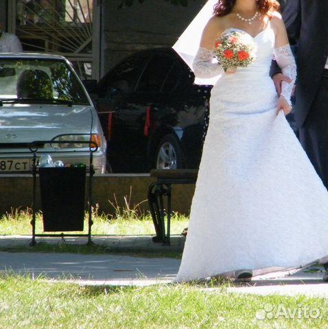 Свадебное платье размер 44 89525543855 купить 2