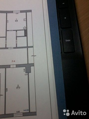 Комната 36.7 м² в 2-к, 1/5 эт. 89145800951 купить 2