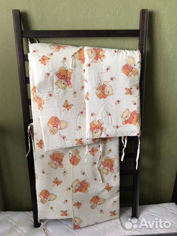 Кроватка Детская (в подарок матрас, мягкие бортики 89132873839 купить 7
