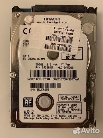 Жесткий диск Hitachi SATA-3 500GB 5.4K 2.5 кеш 8мб купить 1