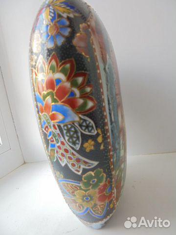 Ваза Китай костяной фарфор роспись позолота  89105009779 купить 8