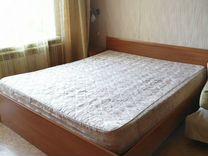 Кровать двуспальная с матрасом — Мебель и интерьер в Омске