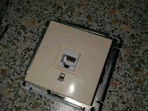 Розетка, выключатель, двухклавишный, рамка