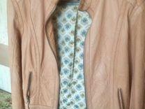 Новая Куртка (натуральная кожа), беж — Одежда, обувь, аксессуары в Санкт-Петербурге