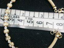Золотой браслет 2 шт