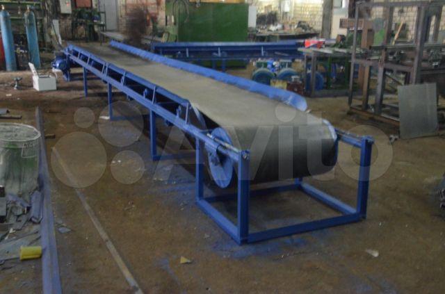 Ленточный транспортер 6м потоковый конвейер