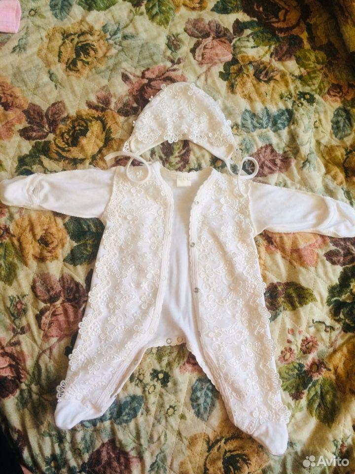 Комбинезон платье крестильный костюм, для выписки 89536188992 купить 1