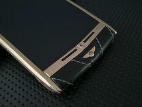 Vertu Touch Bentley Gold черная кожа