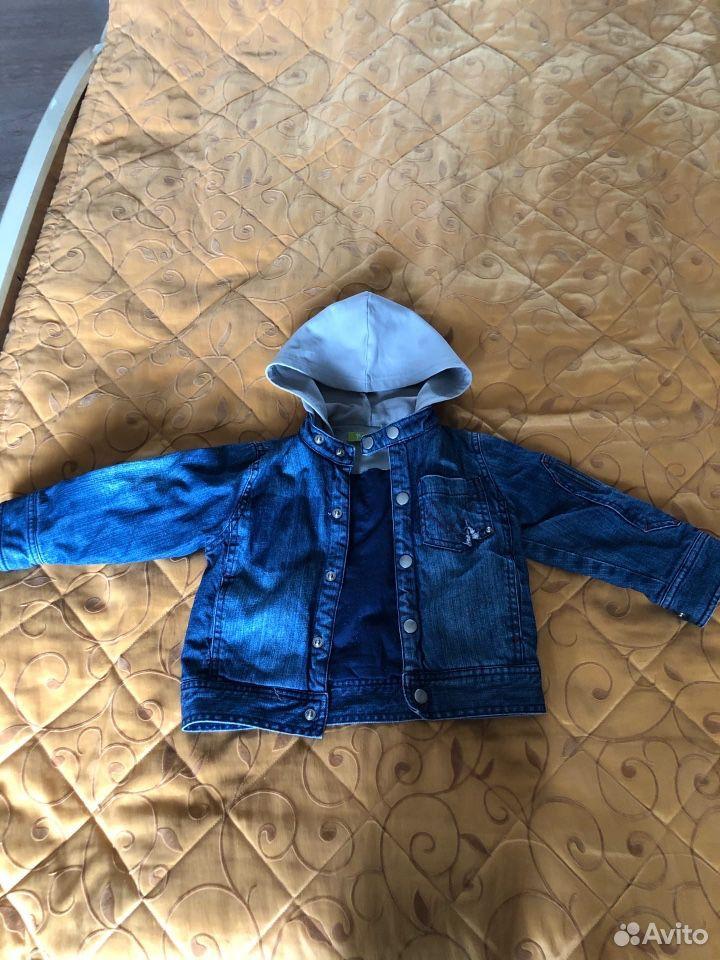 Куртка джинсовая утепленная 92 см