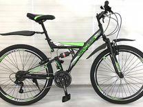 """Подростковый велосипед 24"""" двухподвесной"""