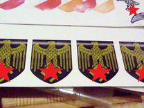 Декали на немецкие каски (очень бюджетные)