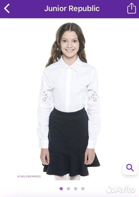 Белая рубашка Junior Republic, 128-134 см  89061562217 купить 1